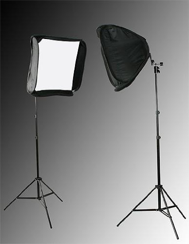 """2 x 24"""" Softbox for Speedlight and Flash with Stand By Fanci"""