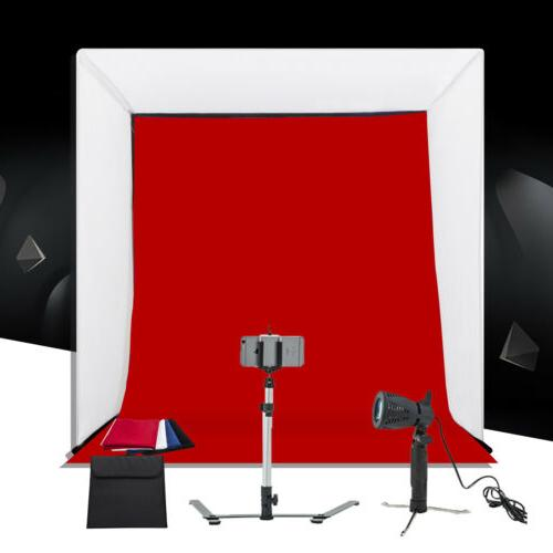 """Photo Studio 16"""" Photography Light Tent Kit Backdrop Cube In"""