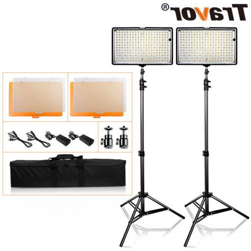 2pcs/Kit TL-240 LED Video Light Studio Photography Camera Ph