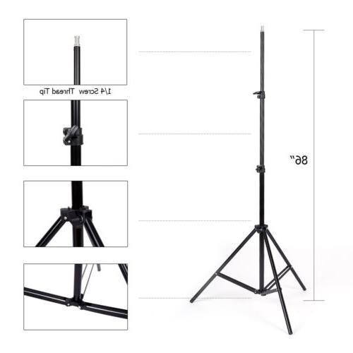 2pcs Softbox Light Photo Studio Lighting Stand Set