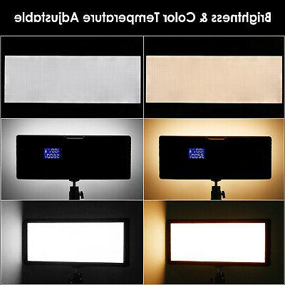 Neewer 2pcs Super Bi-Color Dimmable Video Light with Light Stand Kit