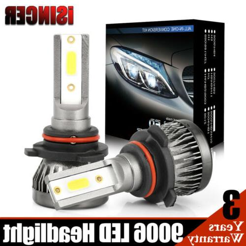 2x cree 9006 led headlight hi lo