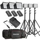 Neewer 3 Pack CN-216 Dimmable LED Video Light Kit for Canon