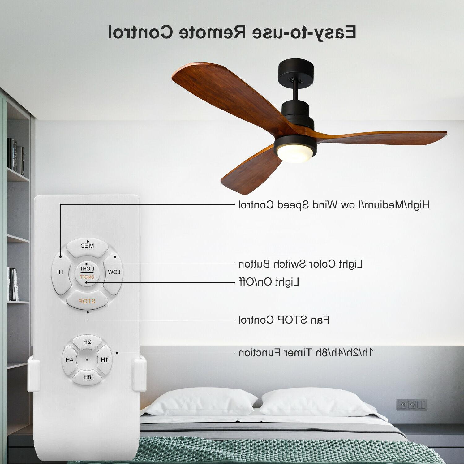 """52"""" Fan with & Remote Control 3 Wood"""