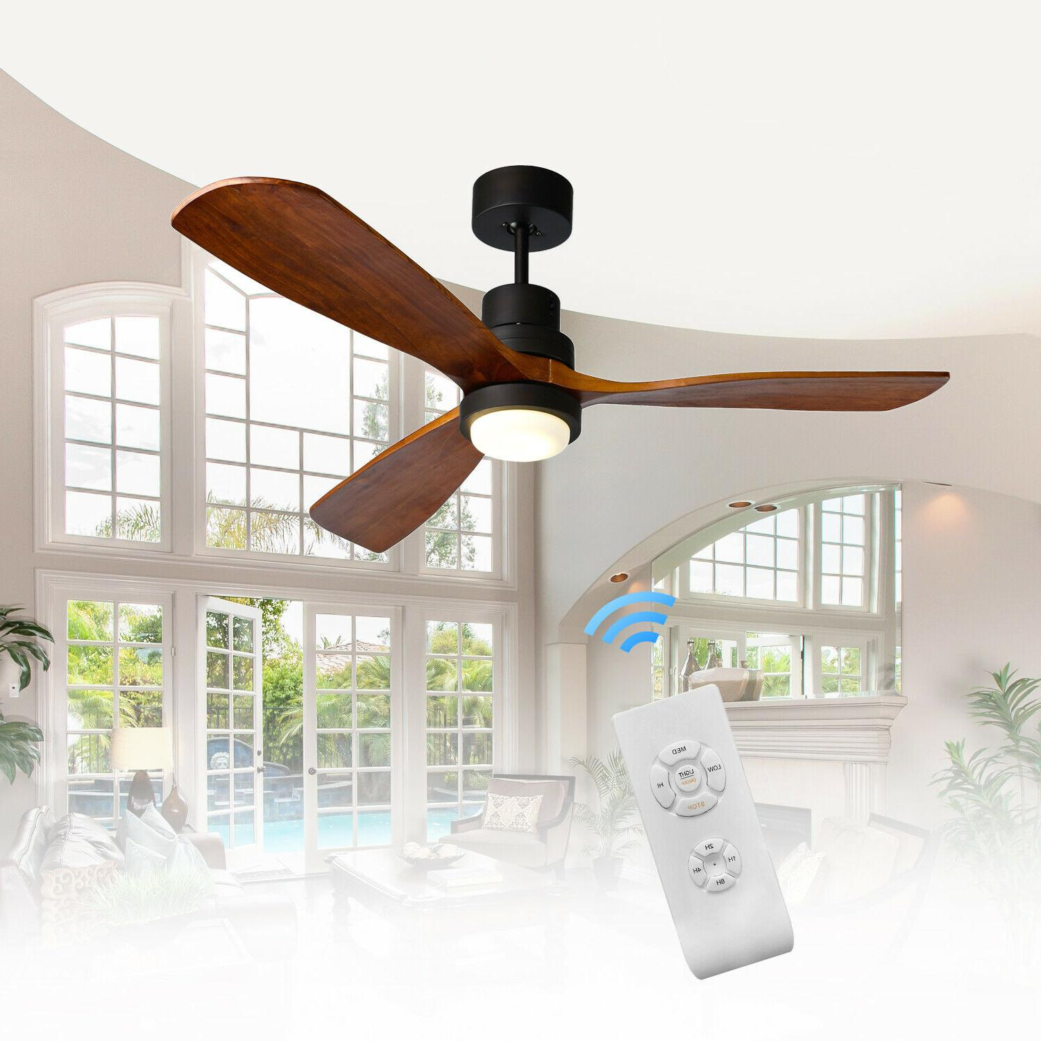52 bronze ceiling fan with led light