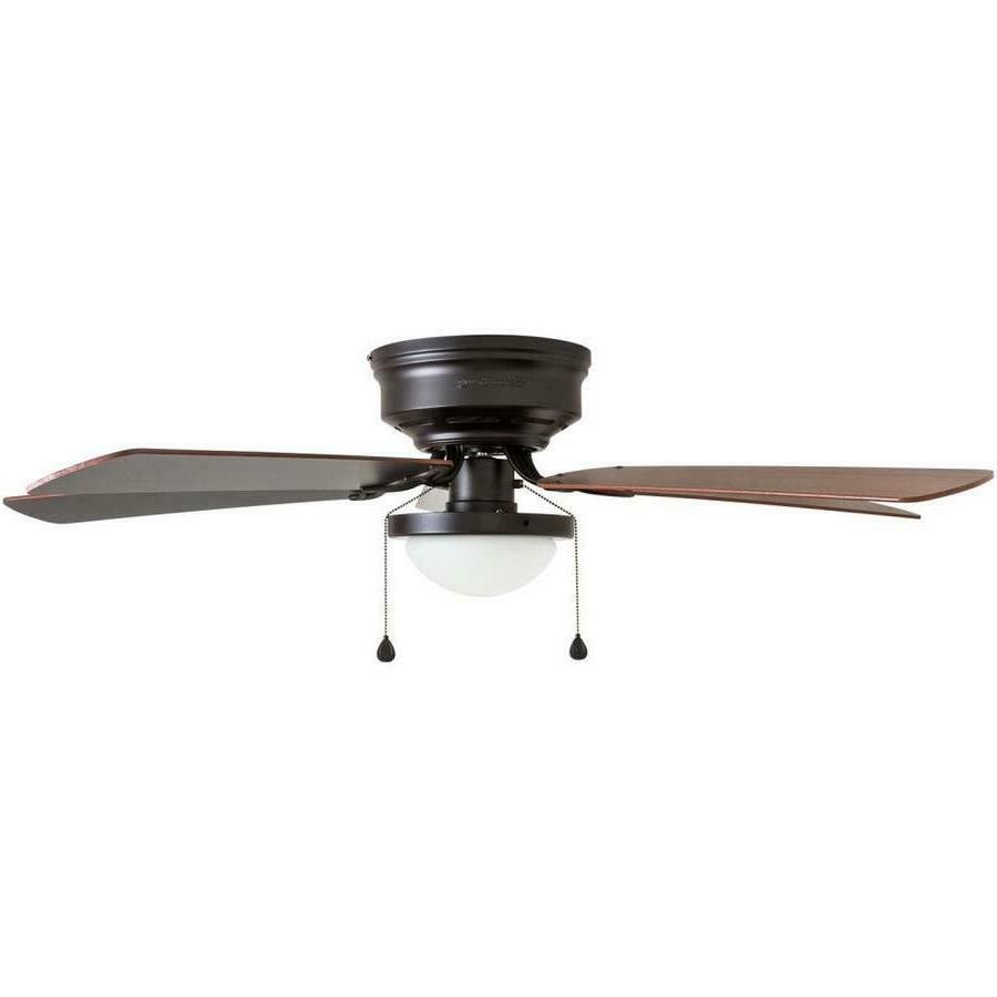 Harbor Breeze 52-in Bronze Flush Mount Ceiling Fan Kit