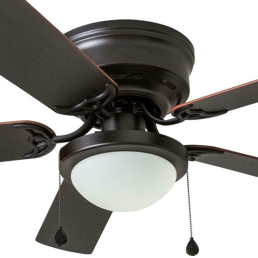Harbor Armitage 52-in Bronze LED Mount Ceiling Fan Kit