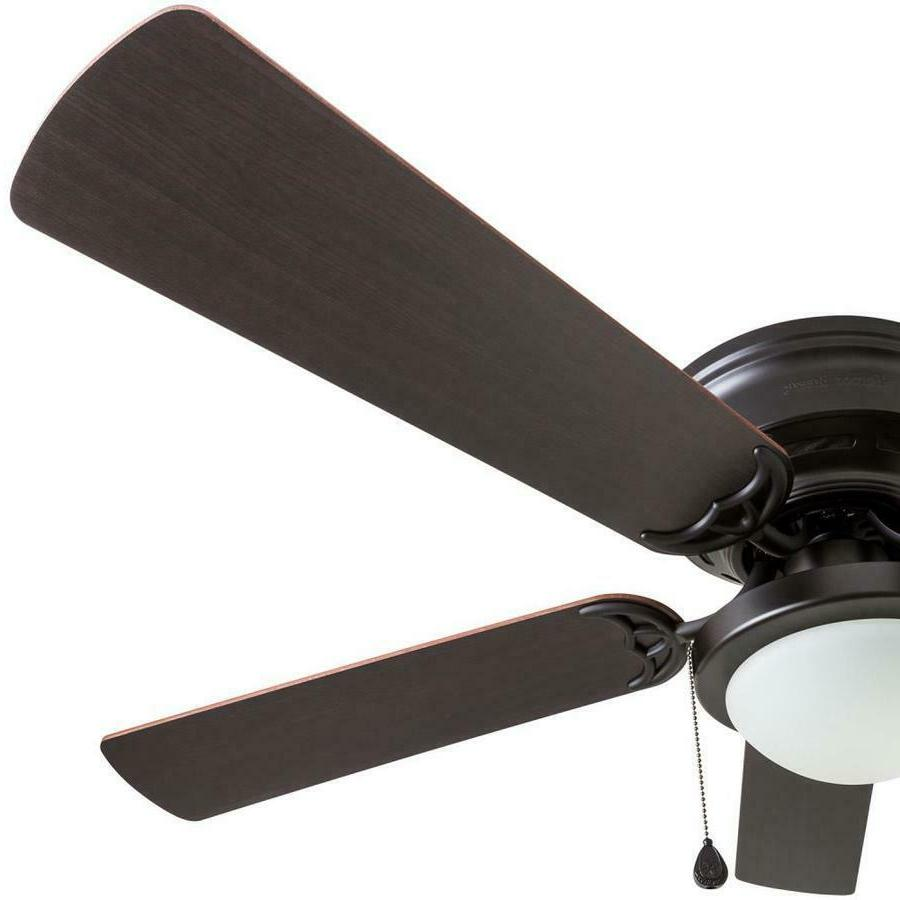 Harbor Breeze Bronze Indoor Flush Mount Ceiling Fan with Kit