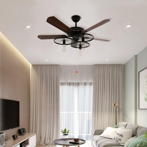 """52"""" Vintage Fan with lighting antique"""