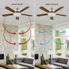 "52"" Wooden Ceiling Fan With Bronze Pull Chain Set + White Gl"