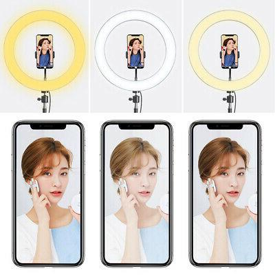 """6"""" LED Ring Light Kit with Stand for Camera"""