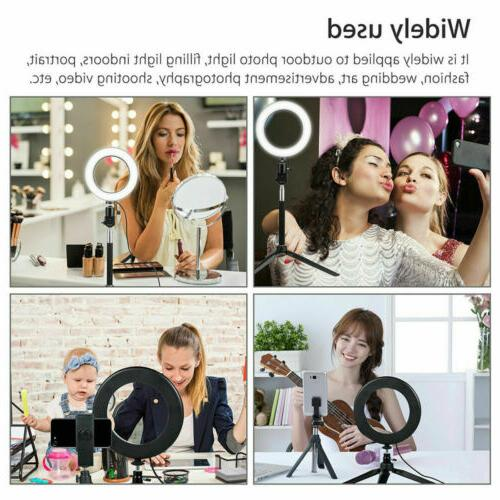 """6"""" Dimmable 5500K Ring with Stand Makeup Camera Selfie"""