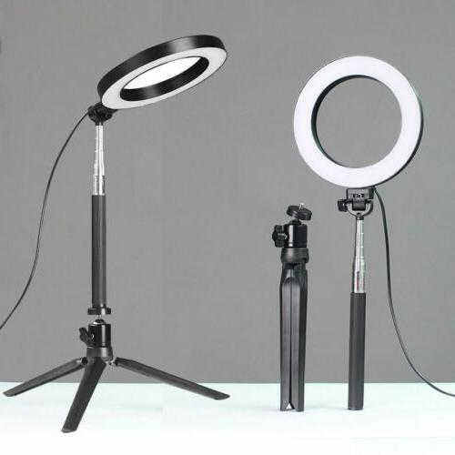 """6"""" LED Ring with Stand Lighting Makeup Phone"""