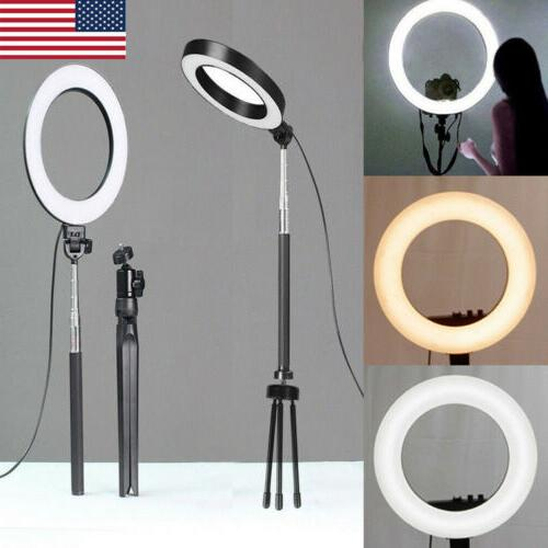 6 led ring light with stand 5500k