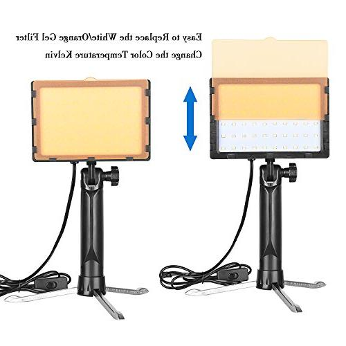Emart LED Portable for Table Top Photo Video Studio Light with 2 Sets