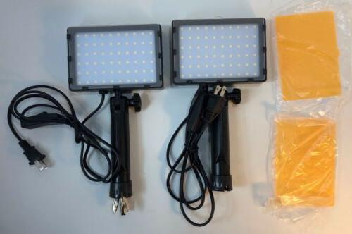 60 led continuous portable photography lighting kit