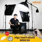 Godox 600Ws Strobe Studio Flash Light Kit 3pcs 200Ws Photogr