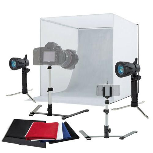"24"" Light Room Photo Studio Photography Lighting Tent Kit Ba"