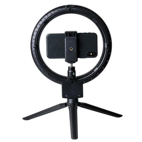 """7"""" Ring Camera Dimmable LED Ring Lamp Tripod"""