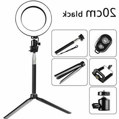 """8"""" 5500K Ring Stand for Camera"""