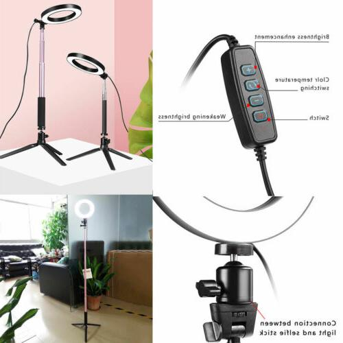 "8"" Ring Kit Stand Dimmable Makeup Lighting"