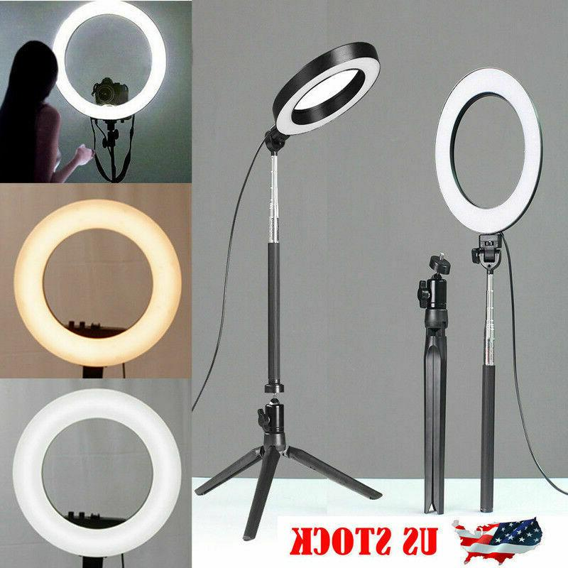 5500k led ring light dimmable lamp photography