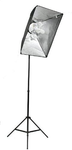 Video Lighting Continuous kit with - 2 2 softboxes, Heads w/5 bulbs, photo bulbs by UL9026S