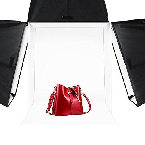 "LimoStudio 24"" Photography Studio Tent Kit in a - 2x Double Mini Camera GU10"