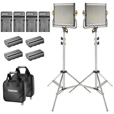 Neewer Studio 2-Pack Bi-color Dimmable 480 LED Video Light +