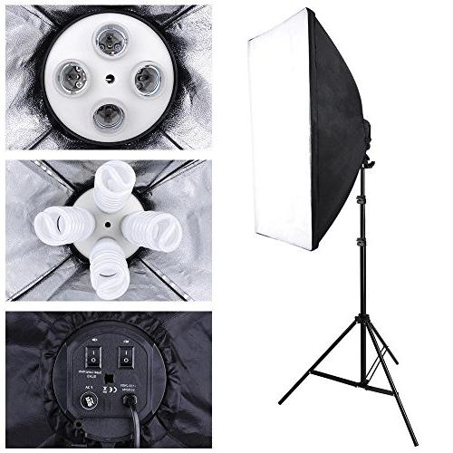 Photograpy 20x28 Boom Arm Continuous Kit Photography 2000w w/Case