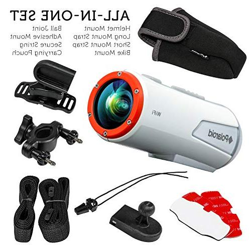 Polaroid XS100i Wi-Fi Extreme Edition HD 1080p Waterproof Action Camera With Full Kit Included