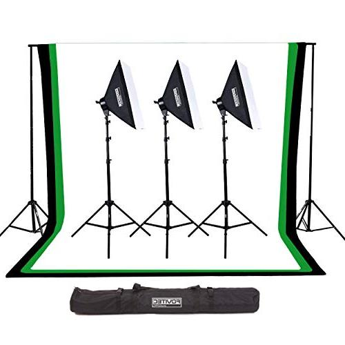 StudioPRO 3000W Continuous Output Softbox Lighting Kit with
