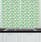 "Aster Kitchen Curtains 2 Panel Set Window Drapes 55"" X 39"" A"