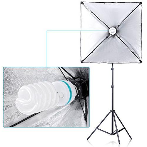 "Neewer® 700W 24""x24""/60x60cm Softbox Socket Light Lighting for Photography Video"