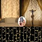 Battery Operated Curtain String Lights,300 LED Icicle Window