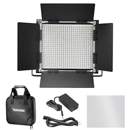 Neewer 2 Bi-color 660 and Stand CRI Dimmable Light with Bracket Barndoor 75 Light Photography, Video