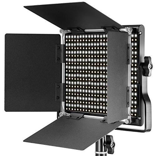 Neewer 660 LED Video Light CRI with and Barndoor and 75 Light Stand for Photography, Video Shooting