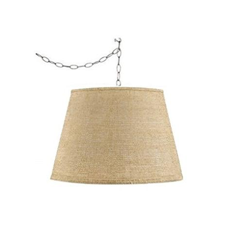 burlap swag lamp hanging lighting