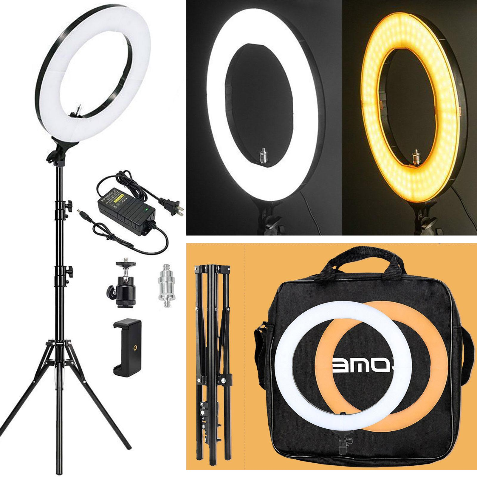 "Zomei Camera Photo Video 18"" Dimmable LED Ring Light with St"
