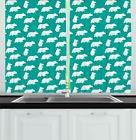 Cartoon Woodland Kitchen Curtains 2 Panel Set Window Drapes