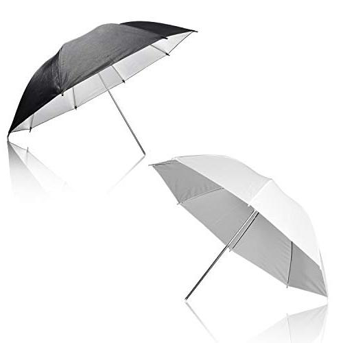 Emart 400W 5500K Umbrella Continuous Lighting Kit, 8.5x10ft Support with 2 Muslin backdrops for Photo Photography