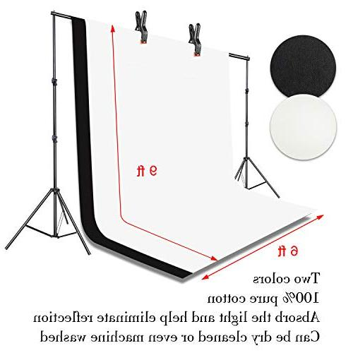 Emart 400W Umbrella Continuous Kit, 8.5x10ft Background with 2 for Product, Portrait Video Shoot Photography