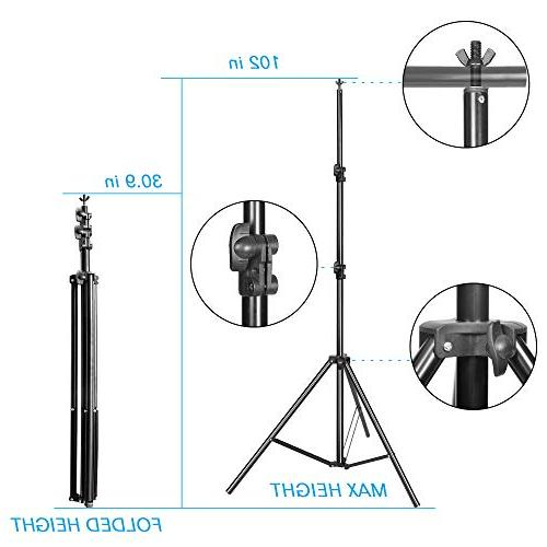 Emart 5500K Umbrella Continuous Lighting 8.5x10ft Background with Muslin for Photo
