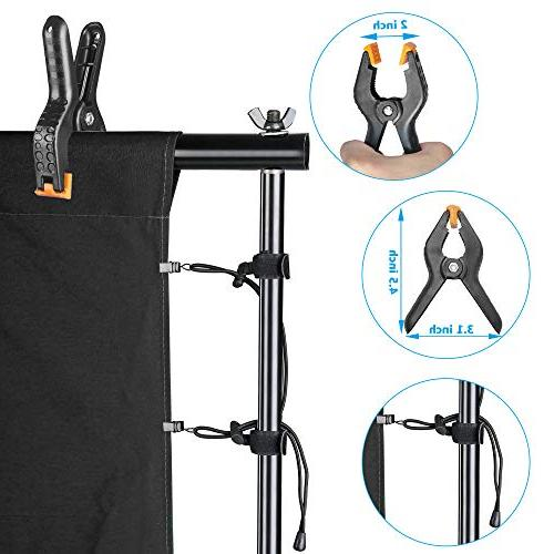Emart Umbrella Continuous Lighting 8.5x10ft System with 2 backdrops for Photo Studio Product, Portrait Photography