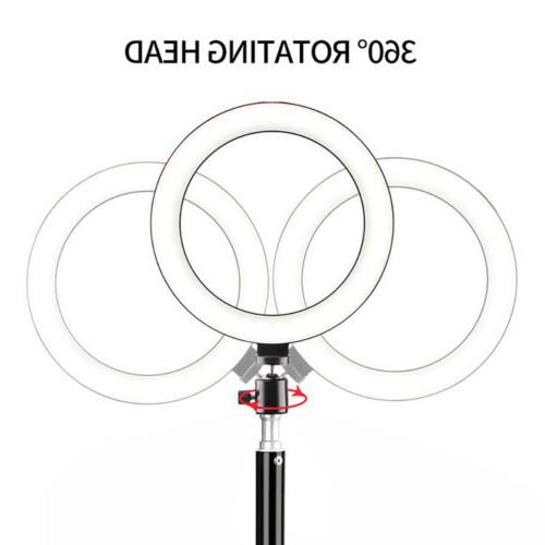 "10"" LED Ring Light Lamp Selfie Studio Stand"