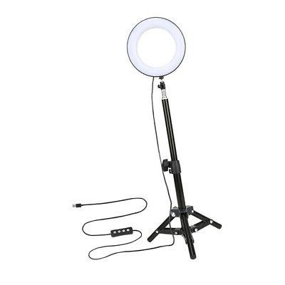 Dimmable LED Light Kit with Stand for Makeup Live Selfie