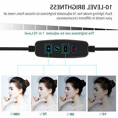 Dimmable LED Kit Makeup Live Video Fill