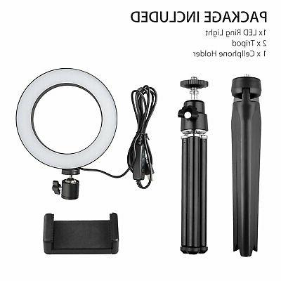 Dimmable Kit Stand For Makeup Live Video Selfie Fill