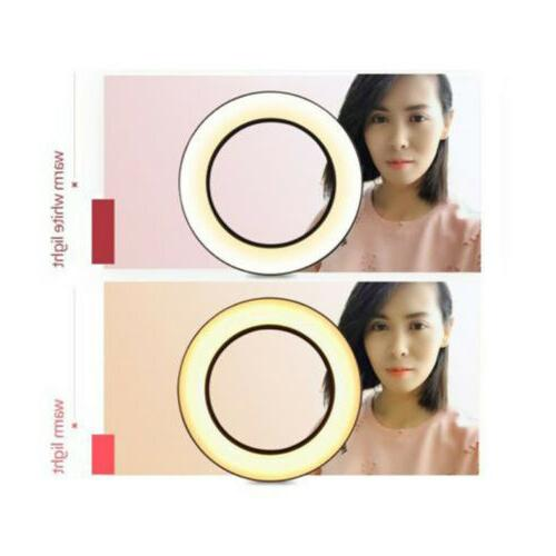 Dimmable LED Ring Kit Makeup Live Video Fill