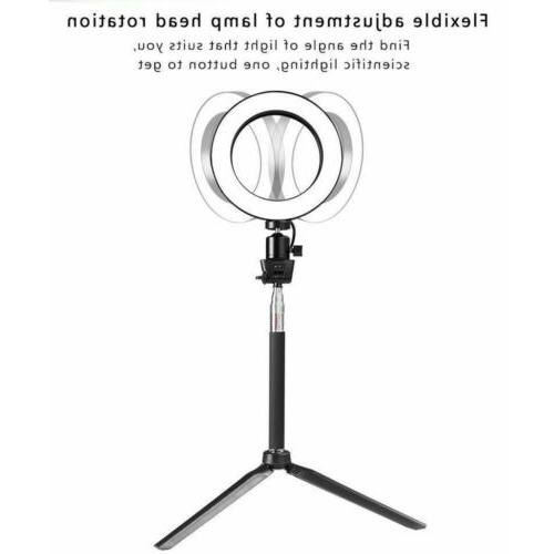 Dimmable LED Ring Kit with Stand Makeup Fill Light